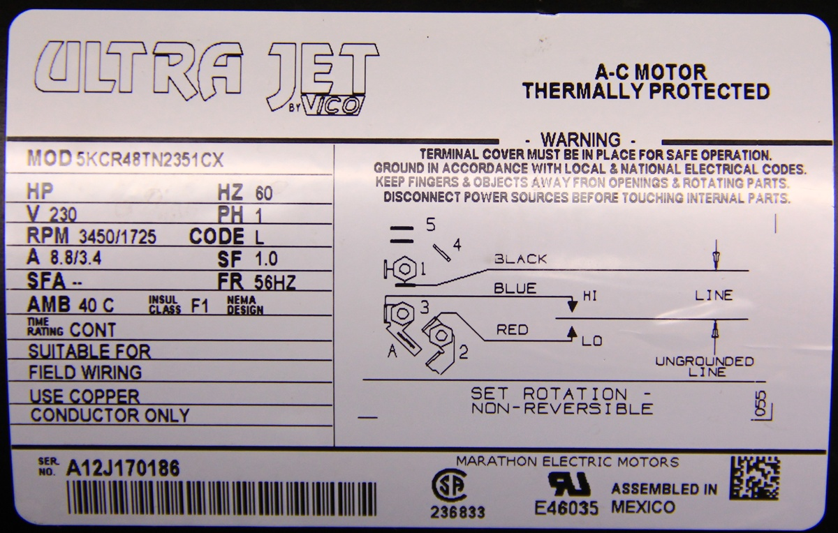 5KCR48TN2351CX 4 single phase wiring diagram for motors wirdig readingrat net marathon electric motor wiring diagram problems at n-0.co