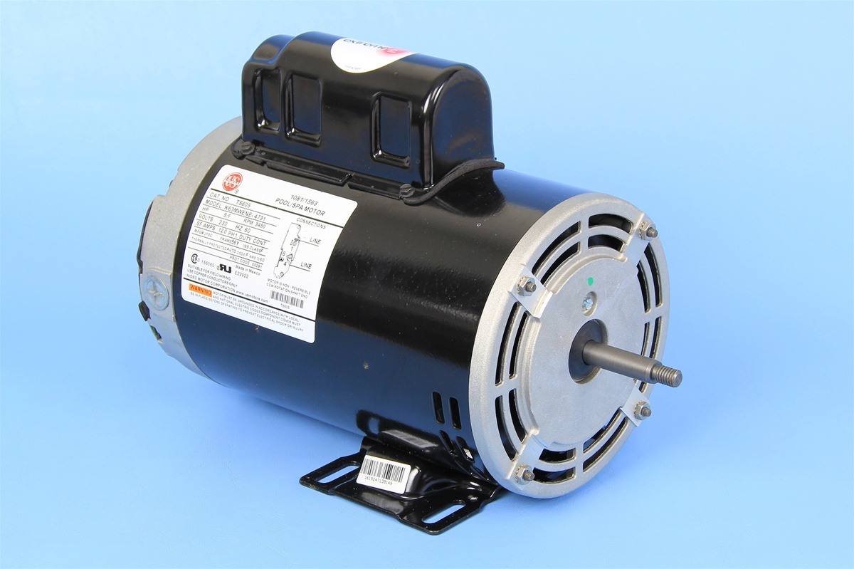 Spa pump motor 1 speed 230 volt 12 0 amps 56 frame 6 5 for Ao smith pump motor
