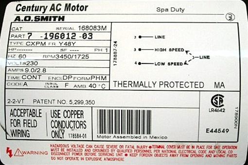 jet bench grinder wiring diagram spa pump motor century 7 196012 03  mp 130  marquis mp 130  spa pump motor century 7 196012 03  mp 130  marquis mp 130
