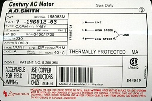 century motor wiring diagram t35028e puulc2102582f spa pump mp-100 marquis, mp100, 630-6073 ... #5