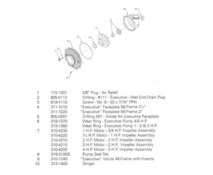 Waterway Pump Parts List Exec 48