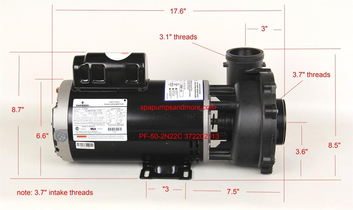 Waterway Pumps Spa Pump 3722021 13 372202113 P250e52024