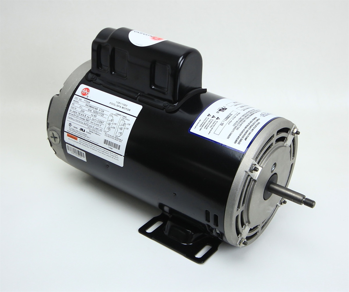 U s motors tt506 r63mwenb 4728 emerson spa motor for Jacuzzi tub pump motor
