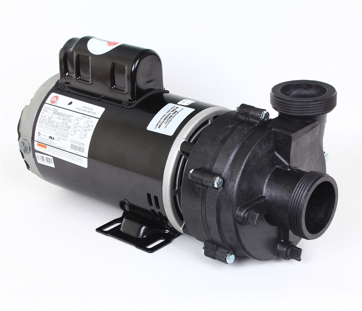 Puum2202582fr spa pump 230 volt 8a 56 frame two speed 2 sd for Spa pumps and motors
