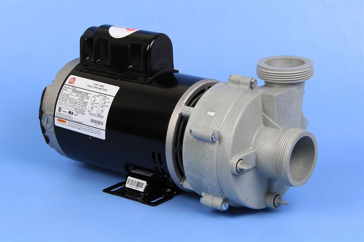 Puum2302582f spa pump 230v 12a puum 56fr 2 speed 2 sd cs for Spa pumps and motors