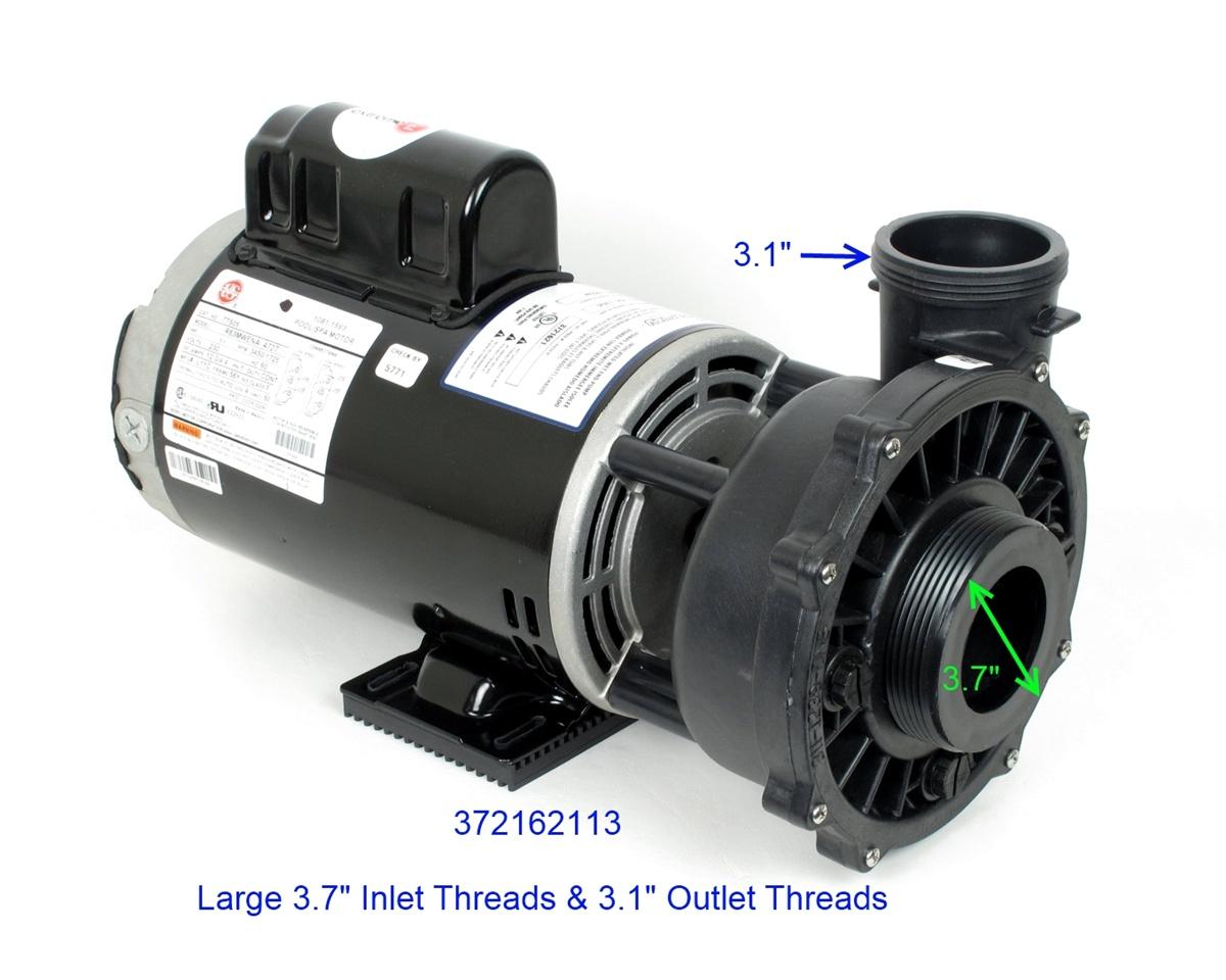 3721621-13 Waterway Spa Pump 2-spd, 230V, 12a 4h 3.7