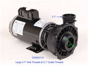 Waterway Pumps Spa Pump 3722021-13 372202113 P250E52024 PF-50-2N22C, PF-45-2N22C, PF-40-2N22M, TT506, R63MWENB-4728, 304.50, Massage Master XLT, E128519